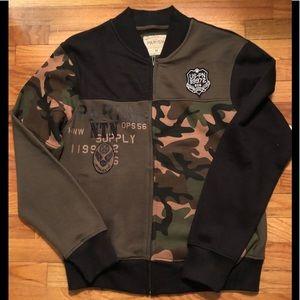 Other - Men's PARISH Sweatshirt Camo zip Front Jacket
